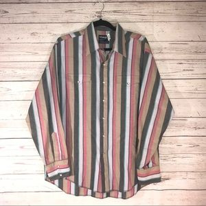 VTG Wrangler Cowboy Button Down Shirt Size XL (D)
